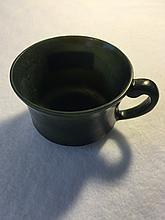 Emerald black jade cup