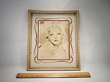 Rare 1920s Art Deco Marion Davies Hollywood Autograph