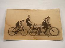 Rare 1901 Aster-Orient Motorcycle Bicycle Photograph