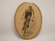 Rare 1901 Cyclist Bicycle Photograph Excelsior Packard?