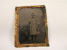 Antique Child Tin Type Photograph