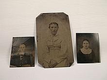 3 Antique Tin Type Photographs