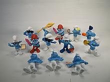 Large Lot of Smurfs Toys