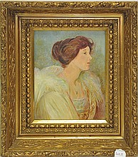 Oil on Canvas of a woman circa 1916