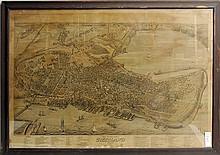 1876 Birdseye View of Portland
