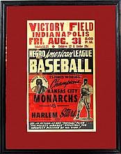 Rare Negro League Baseball Broadside