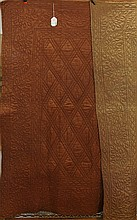 French Silk Coverlet Napoleon III circa 1860