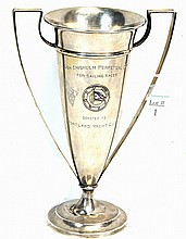 1934 Sterling Silver Yacht Trophy