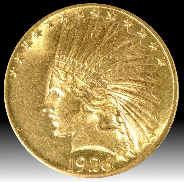 1926 $10 Indian Gold Coin ungraded mint state