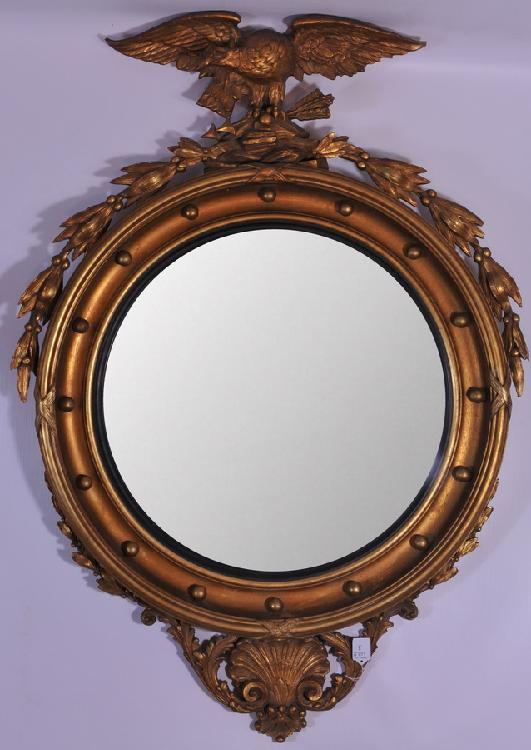 Girandole Convex Glass Federal 4' Mirror