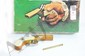 36 caliber snake eyes double barrel percussion pistol in original box