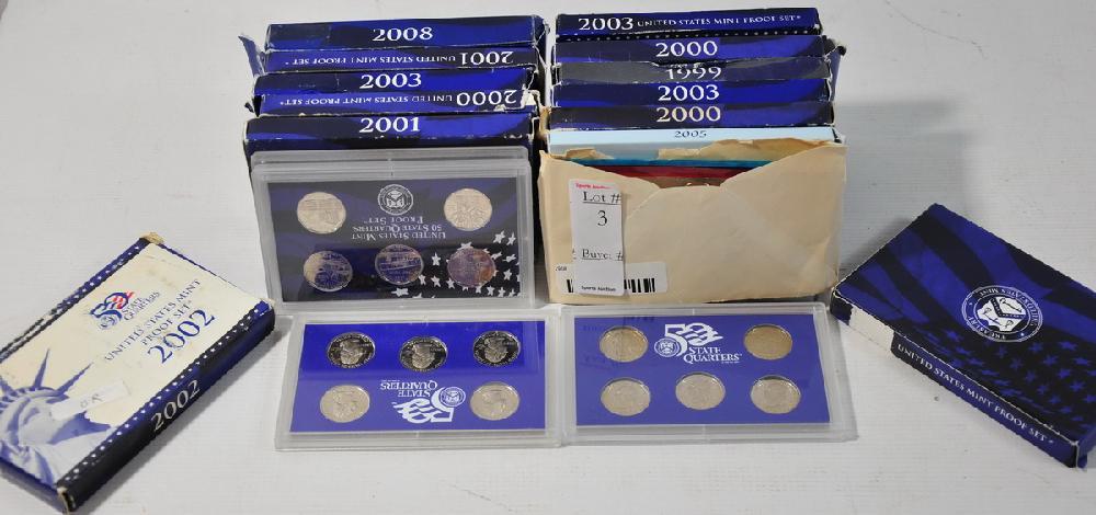 Lot of US State Quarter sets