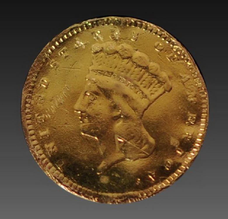 US $1 Gold Coin/Love Token