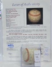 1967 Minnesota Twins Signed Ball JSA COA