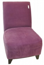 Purple Upholstered Modern Chair