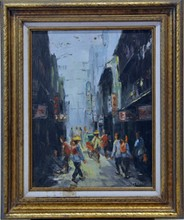 Oil on canvas Chinese Scene