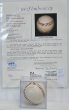 1965 Washington Senators Signed Ball JSA COA