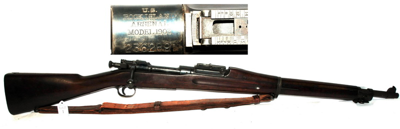 1913 Springfield model 1903 with original finish chambered in 30-06 with original Springfield cleaning kit in hidden butt plate compartment from Rock Island Arsenal serial number 236289