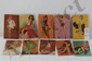 Lot of 10 Mutoscope cards depicting females