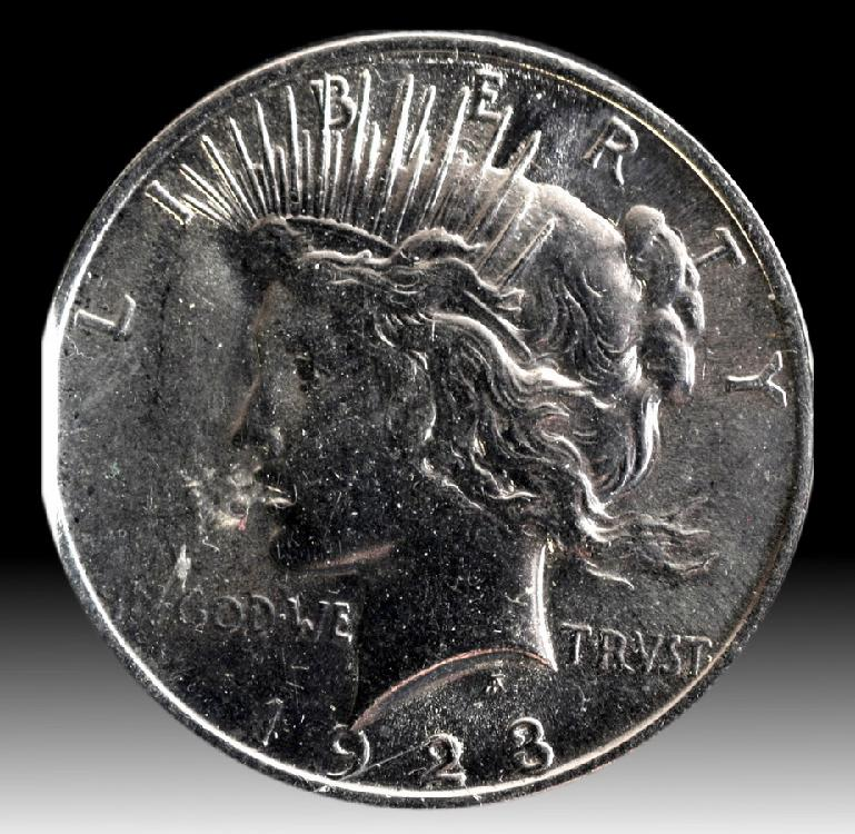 Beautiful 1923 Peace Dollar possible grade is MS67 a Pristine coin