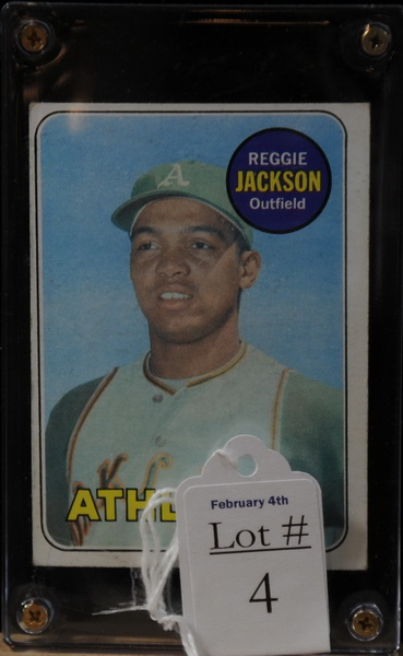 1969 Reggie Jackson Baseball card...Good Quality, Stats Listed on Back.