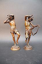 Albert CARRIER-BELLEUSE (1824-1887).  Deux danseurs napolitains.