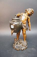 Auguste MOREAU (1834-1917).  Enfant à la cruche cassée.