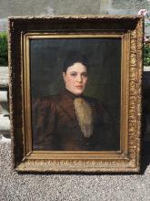 Ecole française du XIXe siècle.    Portrait de dame.