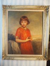 Ecole moderne.    Portrait de jeune fille.