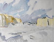 Louise MOREL (1898-1974). Vue présumée de Mauritanie. Huile sur