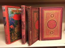 [JULES VERNE] : 4 volumes :  - Autour de la Lune, Bibliothèque d'éducation et de récréation J.  Hetzel et Cie.