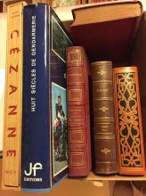 Lot de 6 volumes divers : Bible, Granville, Cézanne, incomplet de Racine, dictionnaire et gendarmerie.