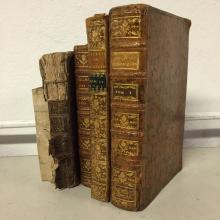Lot de 4 ouvrages sur la médecine.  XVIIIe.