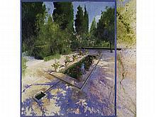 ÁNGELES CERECEDA (Santander, 1962) - Pool and geraniums