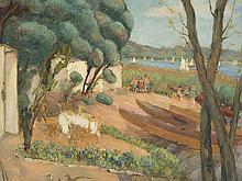 JOAQUÌ쳌N SUNYER (Sitges, Barcelona, 1874-1956) - View of Banyoles