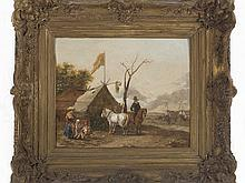 FOLLOWER OF PHILIPS WOUWERMAN - Horserider in front of a tent