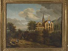 CENTRAL EUROPEAN SCHOOL, 19th CENTURY - Landscape and church