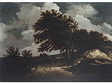 CIRCLE OF SALOMON VAN RUYSDAEL (Dutch School, mid-17th Century) - Woodland landscape