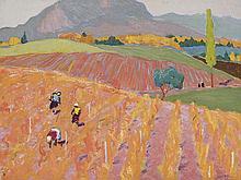 IVAN GODLEVSKY (1908-1998) - Campos del Caucaso