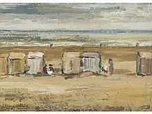 JULIA MINGUILLÓN (Lugo, 1907-Madrid, 1965) - Beach huts