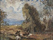 FRANCESC LABARTA (Barcelona, 1883-1963) - A horseride