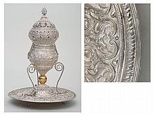 SILVER THURIBLE, ZARAGOZA AROUND 1760