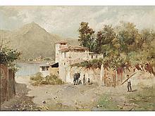 EMILIO SANCHEZ PERRIER (Seville, 1855-Alhama de Granada, 1907) - Landscape of the north of Seville