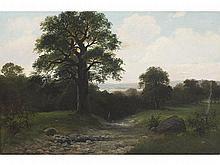 BERNARDINO MONTAÑÉS (Zaragoza, 1825-1893) - Mountain landscape
