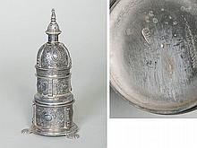 THREE-TIER SILVER SALT CELLAR, BARCELONA, AROUND 1660