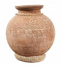LARGE EARTHENWARE JAR CATHOLIC MONARCHS PERIOD 15th CENTURY