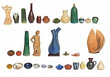 COLLECTION OF 38 CATALAN EARTHENWARE