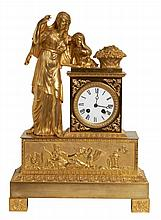 FRENCH TABLE CLOCK EMPIRE PERIOD