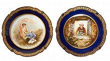 PAIR OF PLATES, FRANCE  20th CENTURY