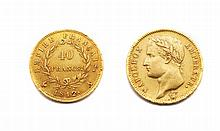40 FRANCS, NAPOLEON EMPIRE, 1812